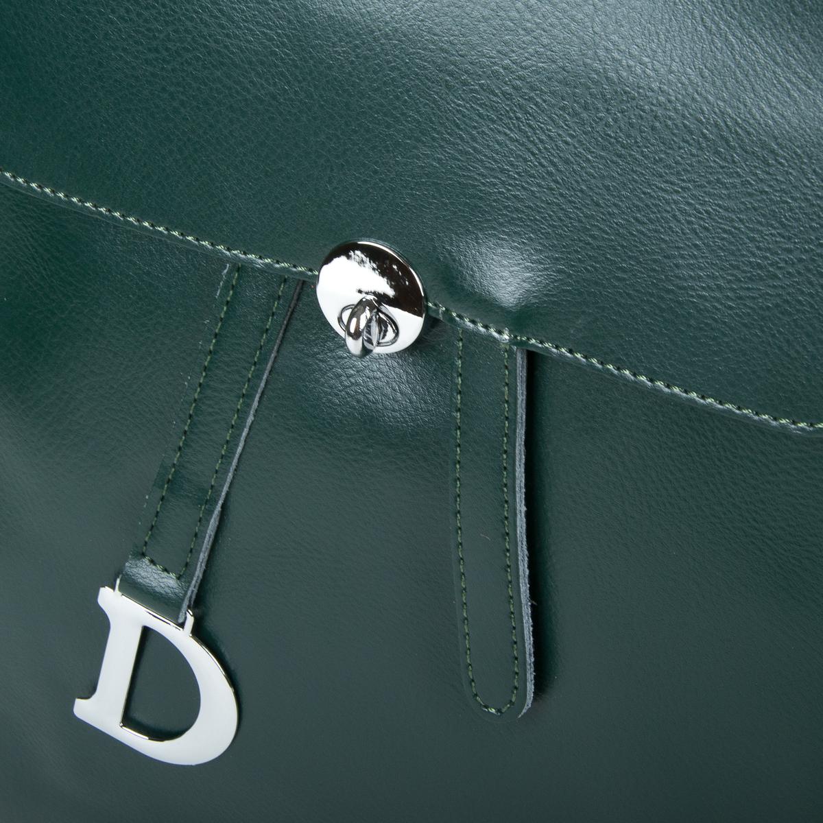 Сумка Женская Рюкзак кожа ALEX RAI 9-01 360 green - фото 3