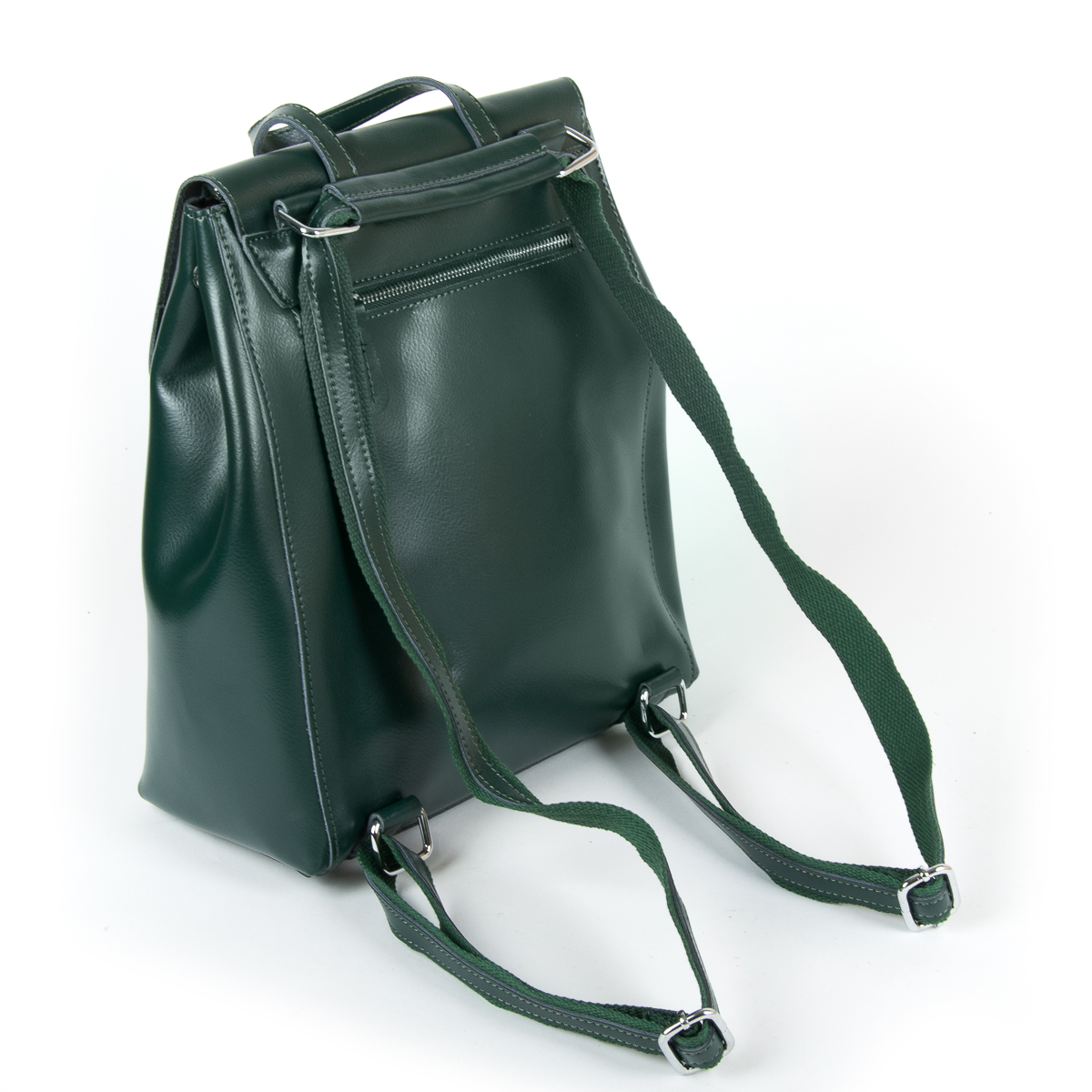 Сумка Женская Рюкзак кожа ALEX RAI 9-01 360 green - фото 4