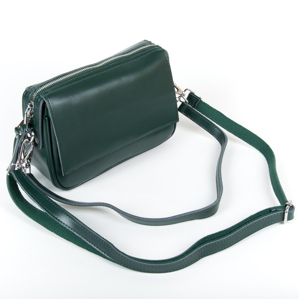 Сумка Женская Клатч кожа ALEX RAI 9-01 2227 green - фото 4