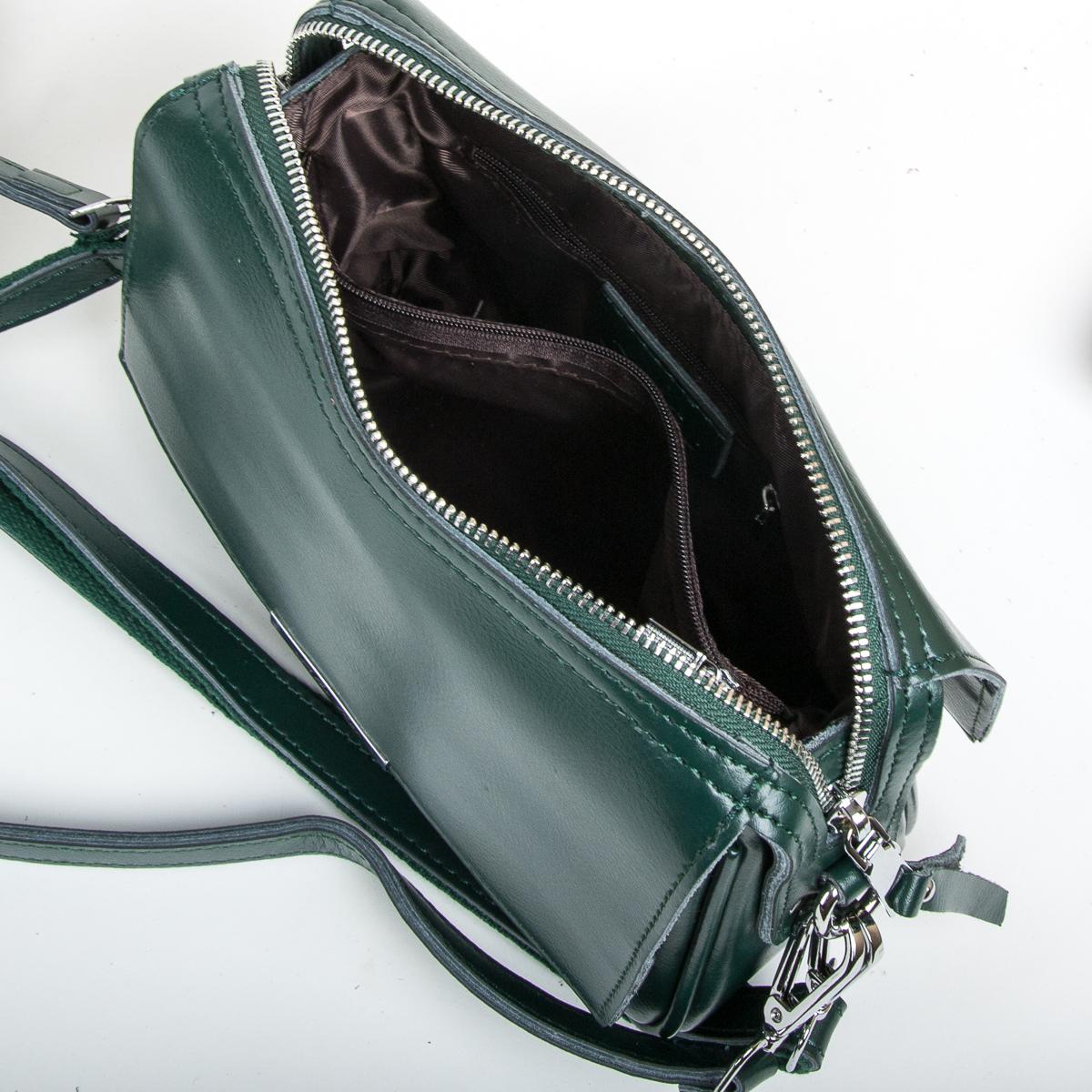 Сумка Женская Клатч кожа ALEX RAI 9-01 2227 green - фото 5
