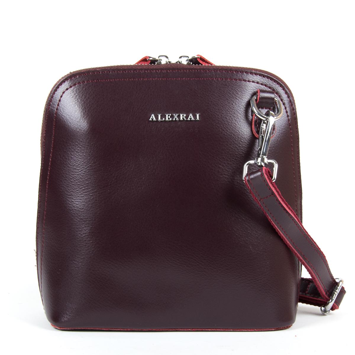 Сумка Женская Клатч кожа ALEX RAI 9-01 8803 burgundy