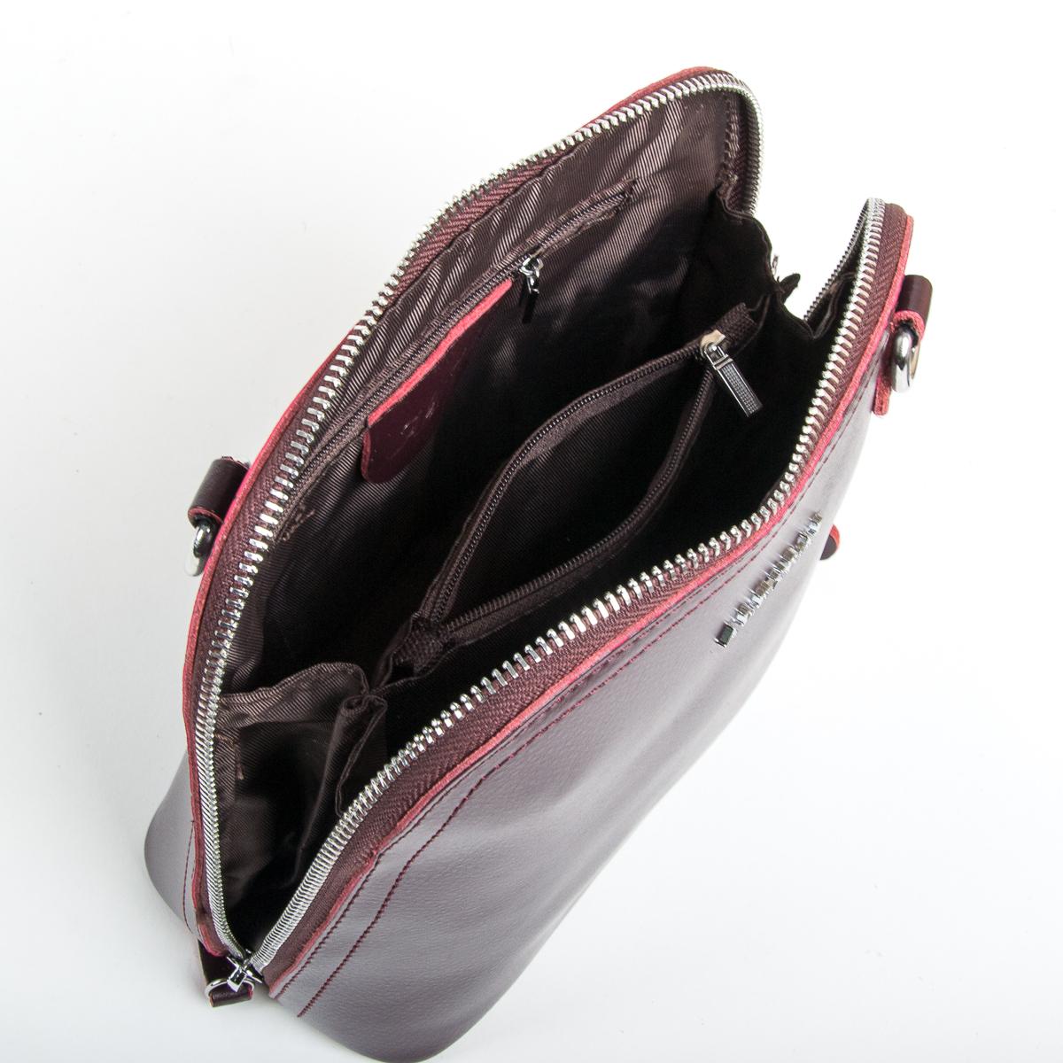 Сумка Женская Клатч кожа ALEX RAI 9-01 8803 burgundy - фото 5