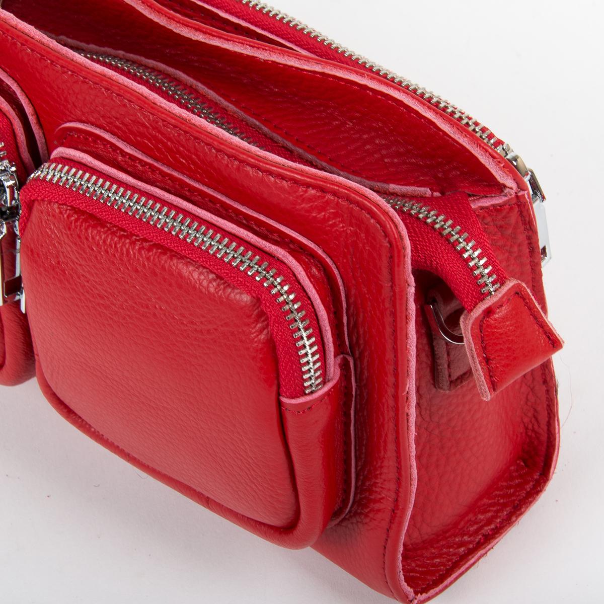 Сумка Женская Клатч кожа ALEX RAI 9-01 8785-9 red - фото 3