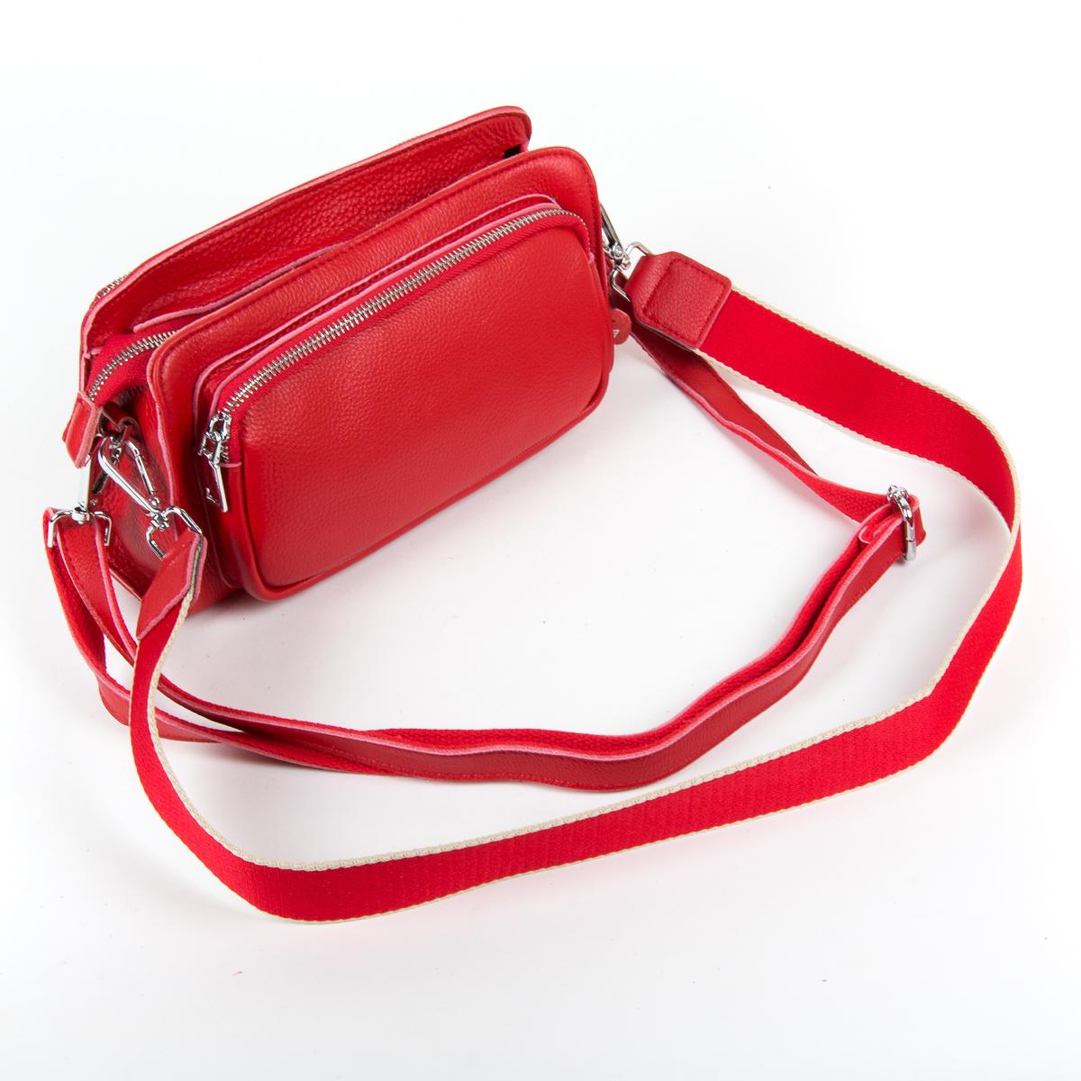 Сумка Женская Клатч кожа ALEX RAI 9-01 8785-9 red - фото 4