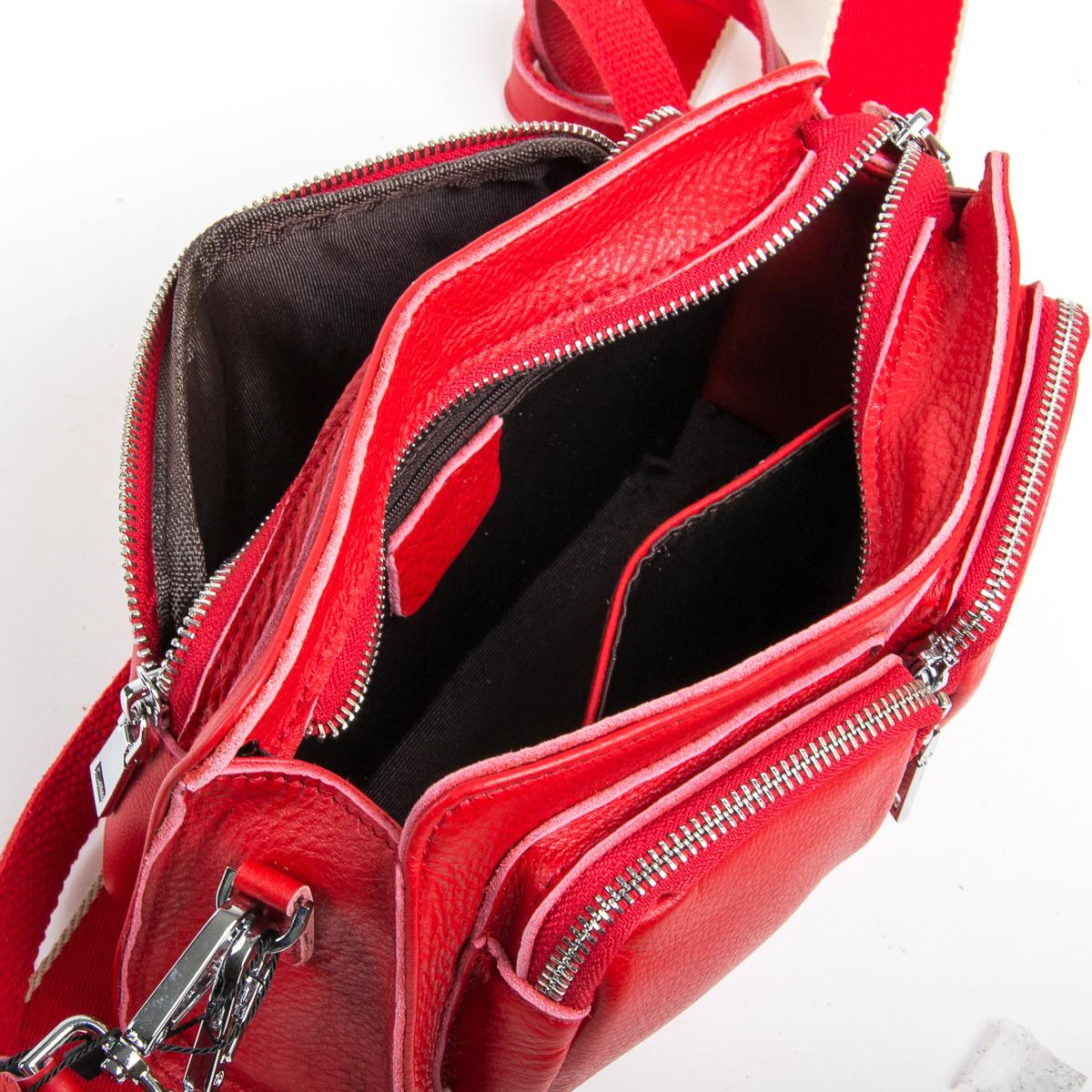 Сумка Женская Клатч кожа ALEX RAI 9-01 8785-9 red - фото 5
