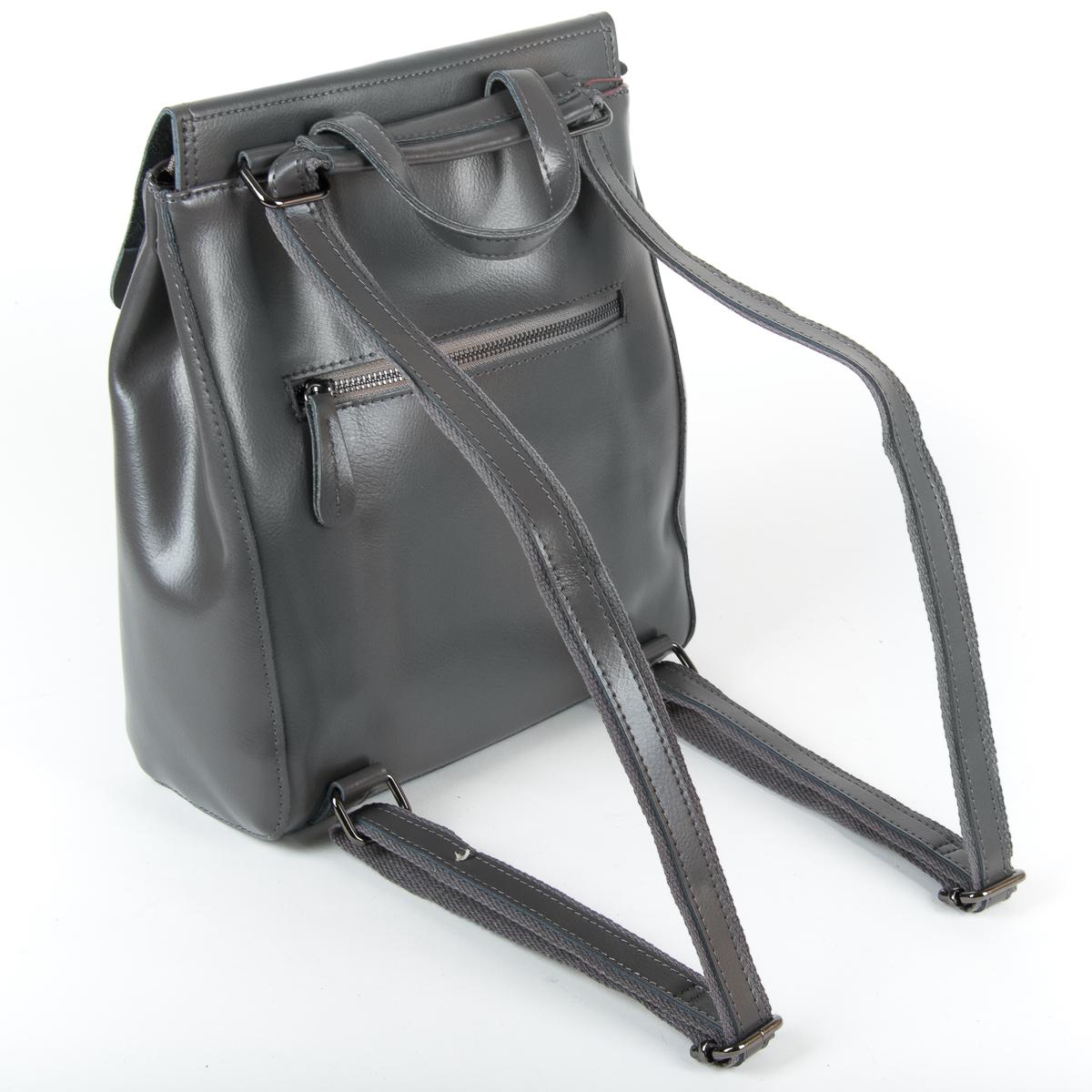 Сумка Женская Рюкзак кожа ALEX RAI 9-01 1005 grey - фото 4