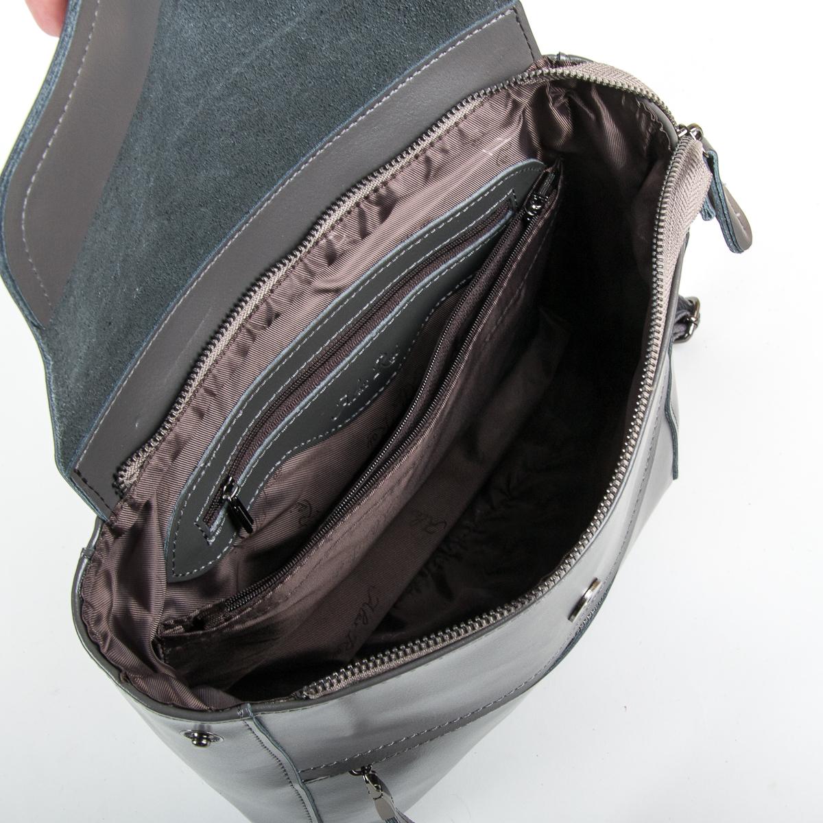 Сумка Женская Рюкзак кожа ALEX RAI 9-01 1005 grey - фото 5