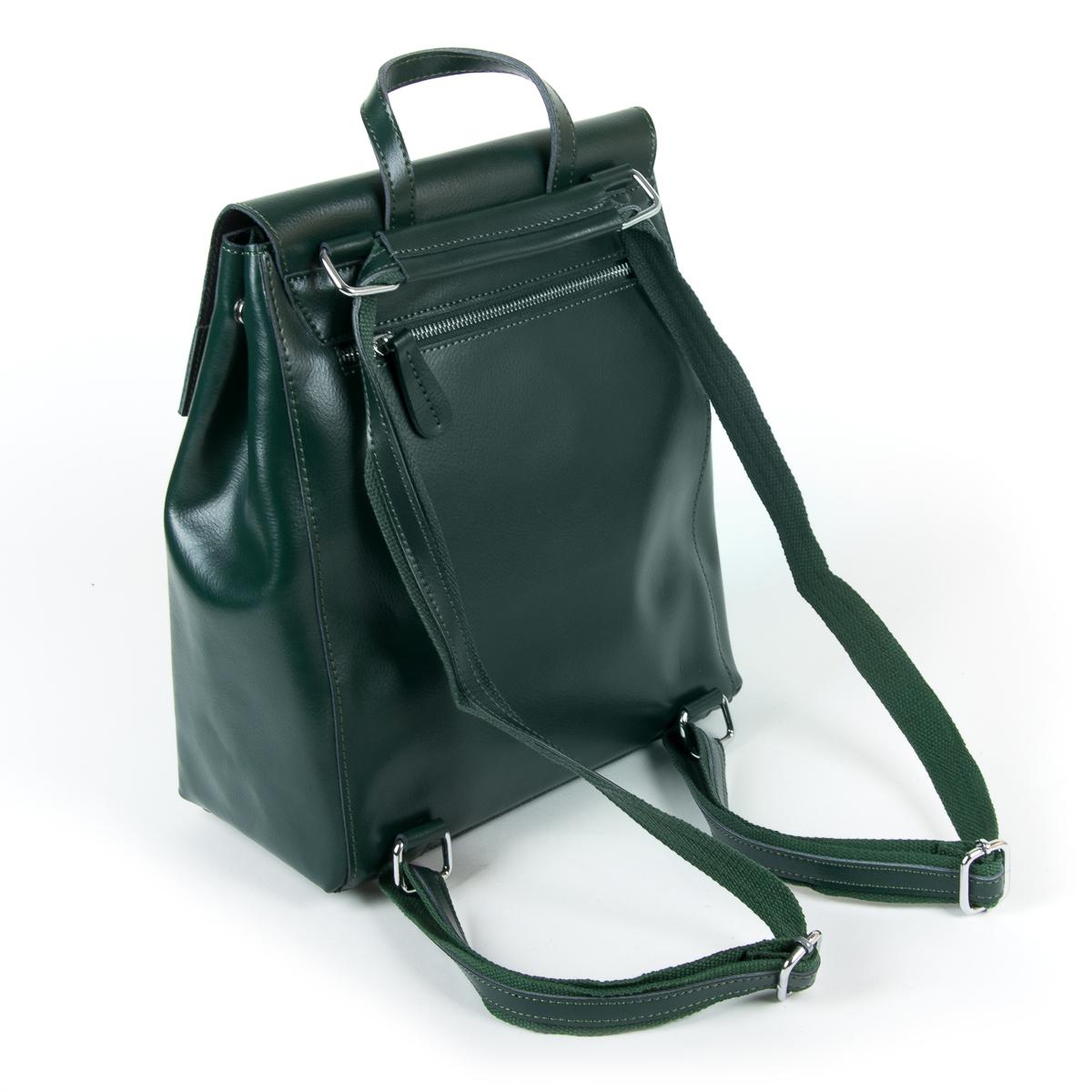 Сумка Женская Рюкзак кожа ALEX RAI 9-01 373 green - фото 4