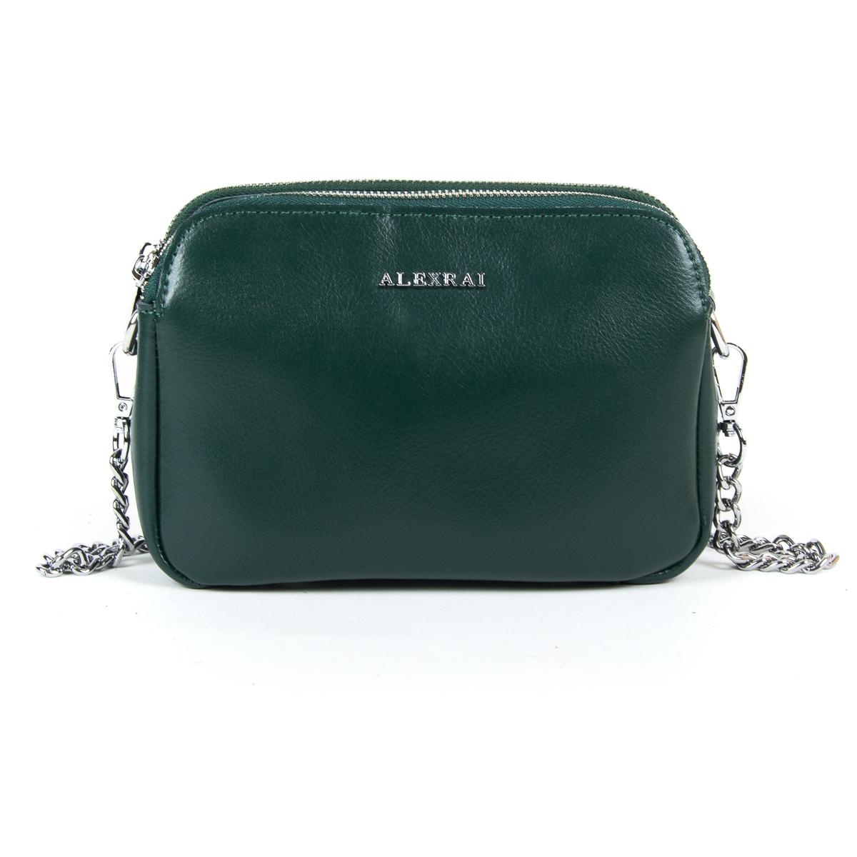 Сумка Женская Клатч кожа ALEX RAI 9-01 8701 green