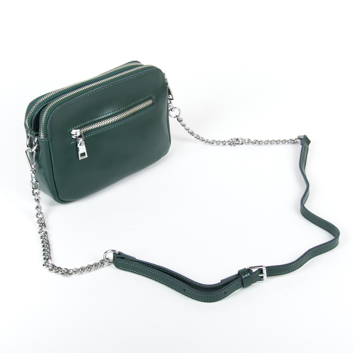 Сумка Женская Клатч кожа ALEX RAI 9-01 8701 green - фото 4