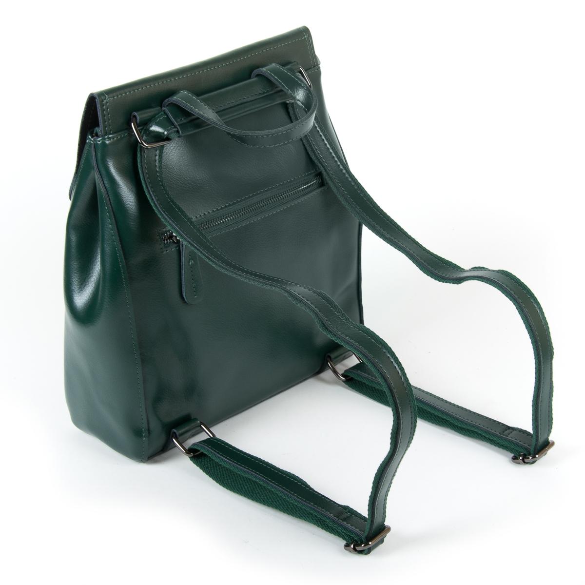 Сумка Женская Рюкзак кожа ALEX RAI 9-01 1005 green - фото 4