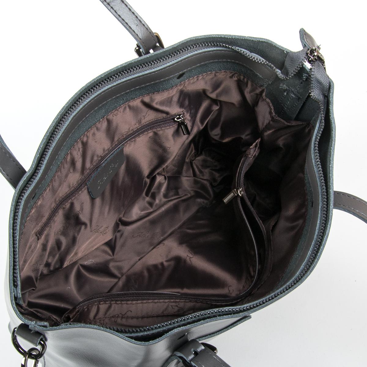 Сумка Женская Классическая кожа ALEX RAI 9-01 1535 grey - фото 5