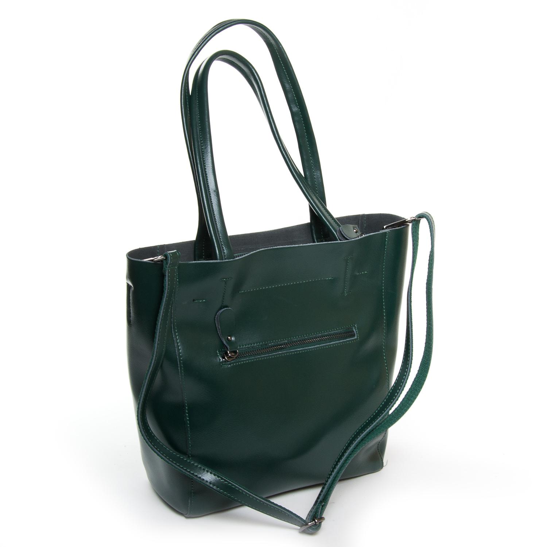 Сумка Женская Классическая кожа ALEX RAI 9-01 J003 dark-green - фото 4