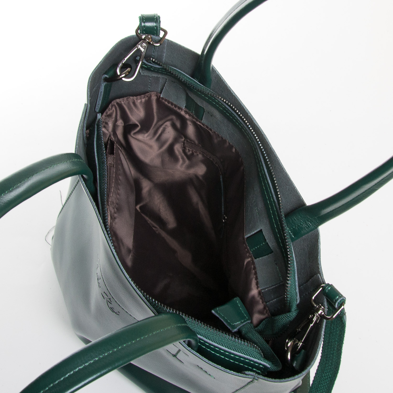 Сумка Женская Классическая кожа ALEX RAI 9-01 J003 dark-green - фото 5