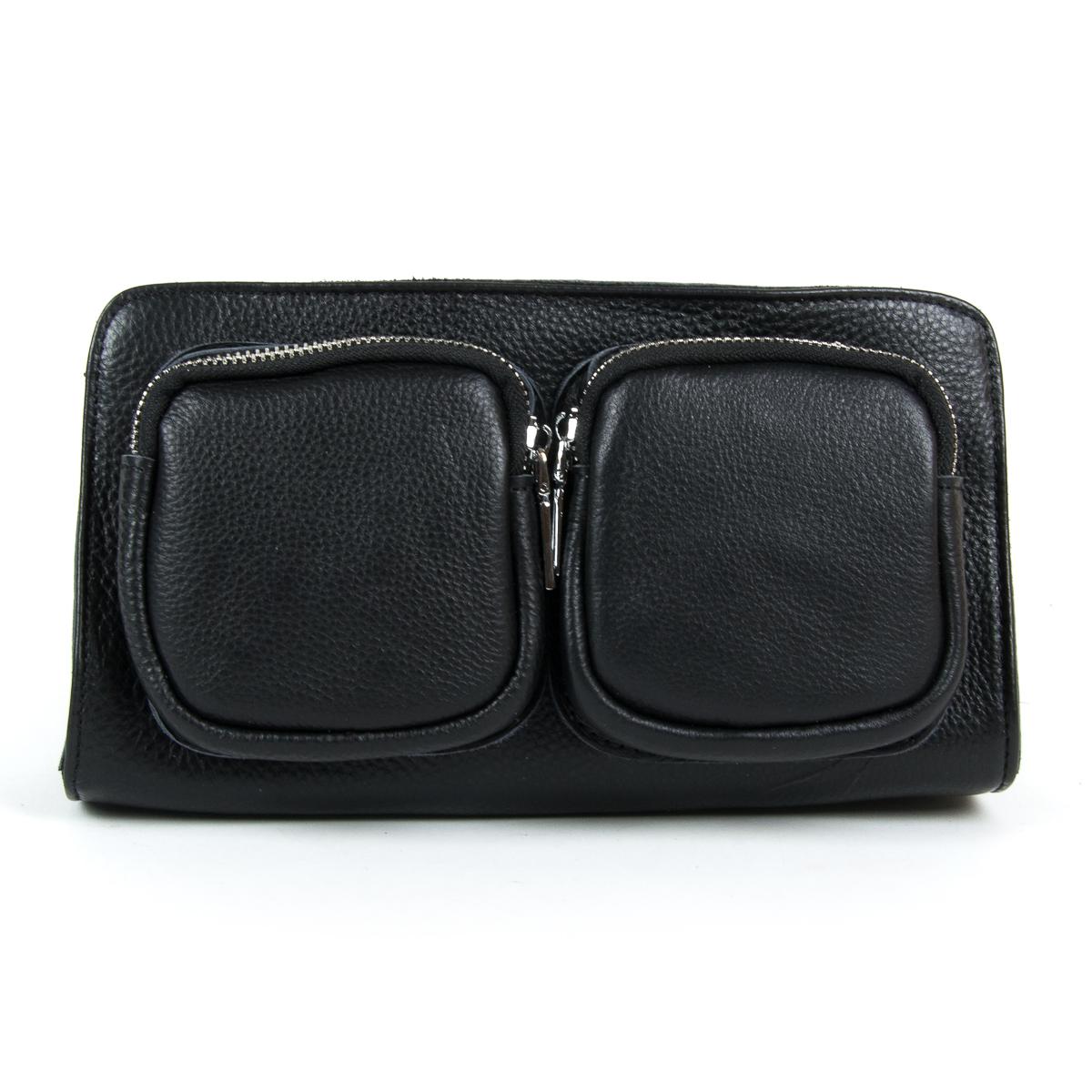 Сумка Женская Клатч кожа ALEX RAI 9-01 8785-9 black