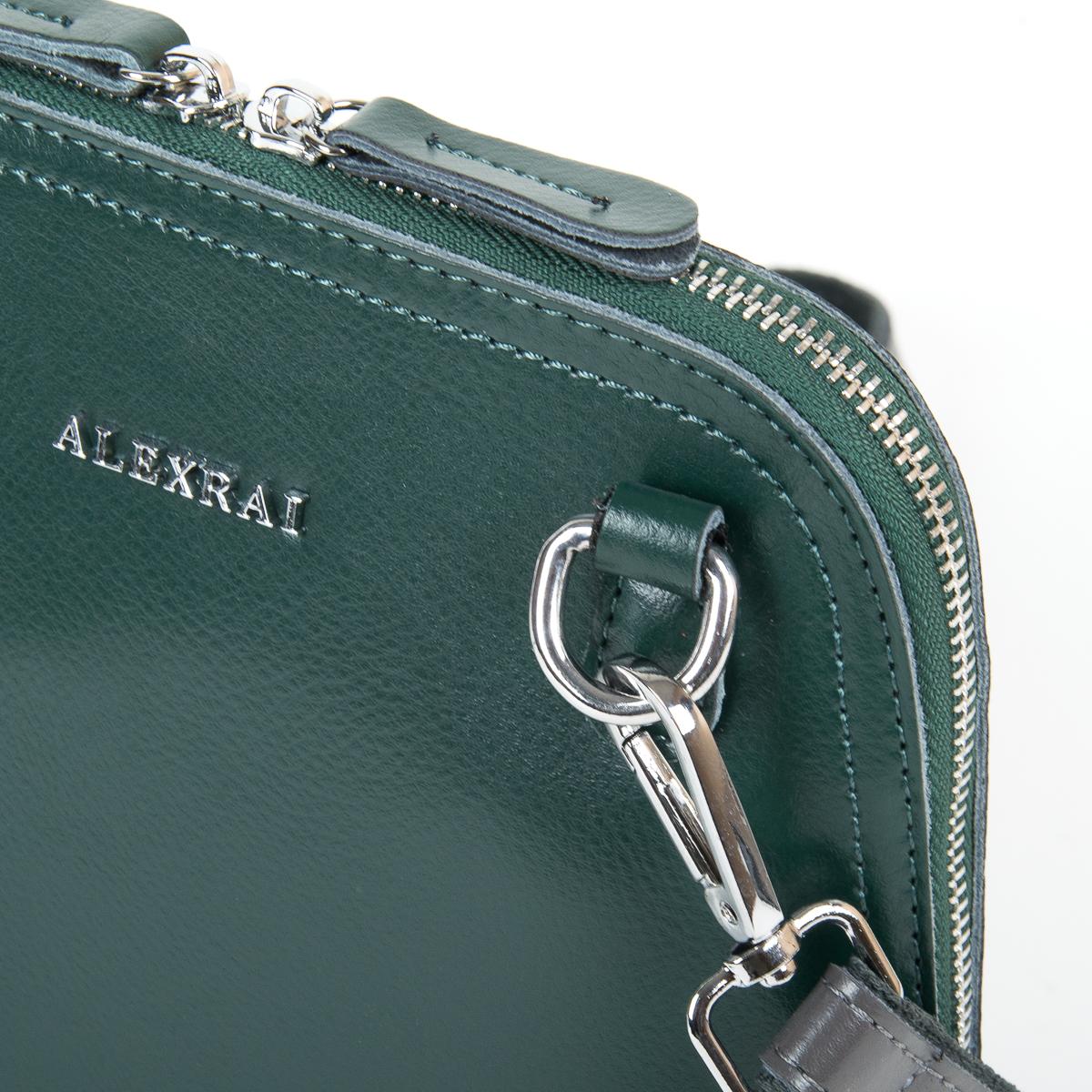 Сумка Женская Клатч кожа ALEX RAI 9-01 8803 green - фото 3