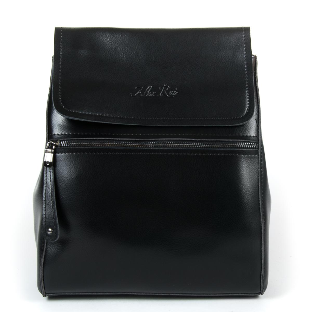 Сумка Женская Рюкзак кожа ALEX RAI 9-01 1005 black