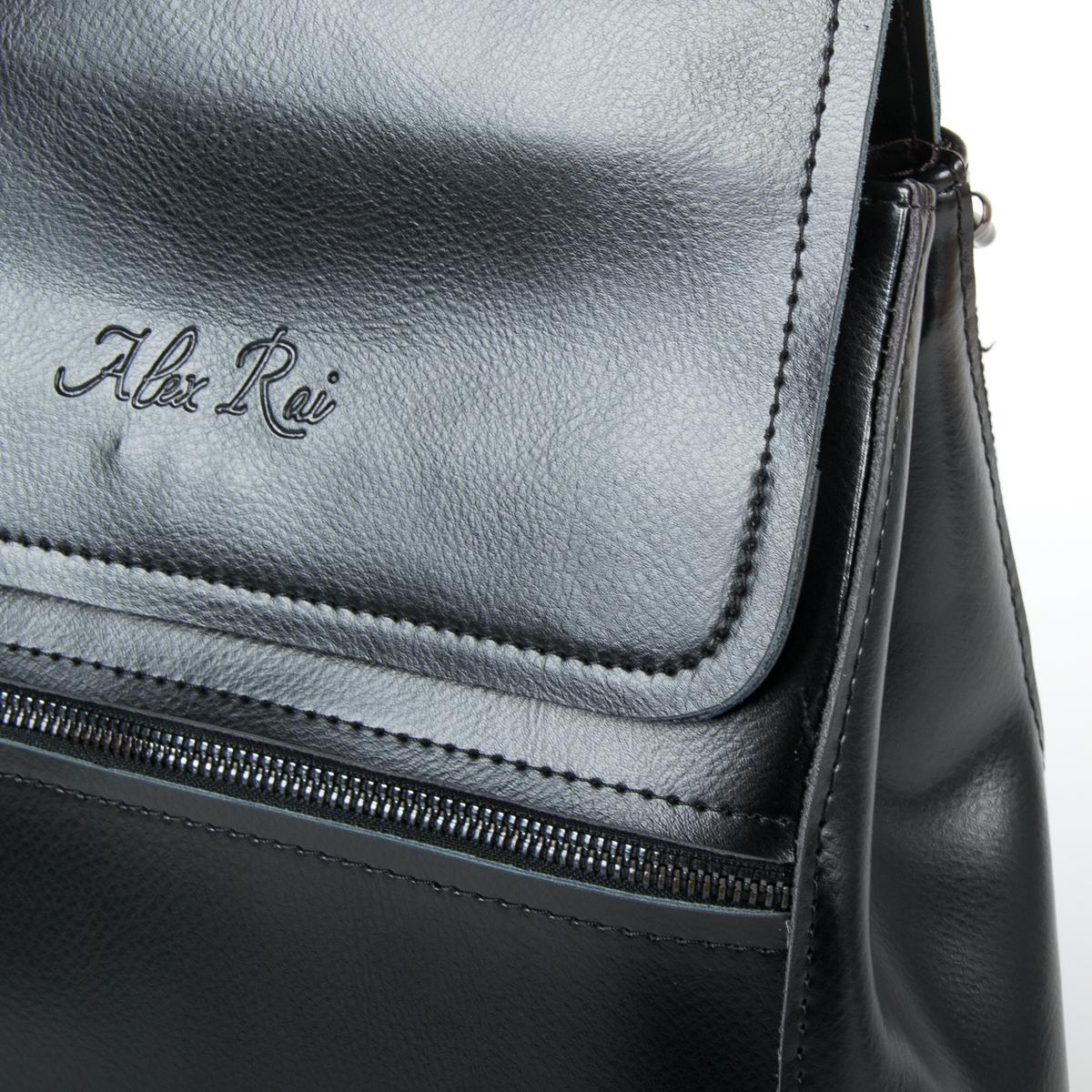 Сумка Женская Рюкзак кожа ALEX RAI 9-01 1005 black - фото 3
