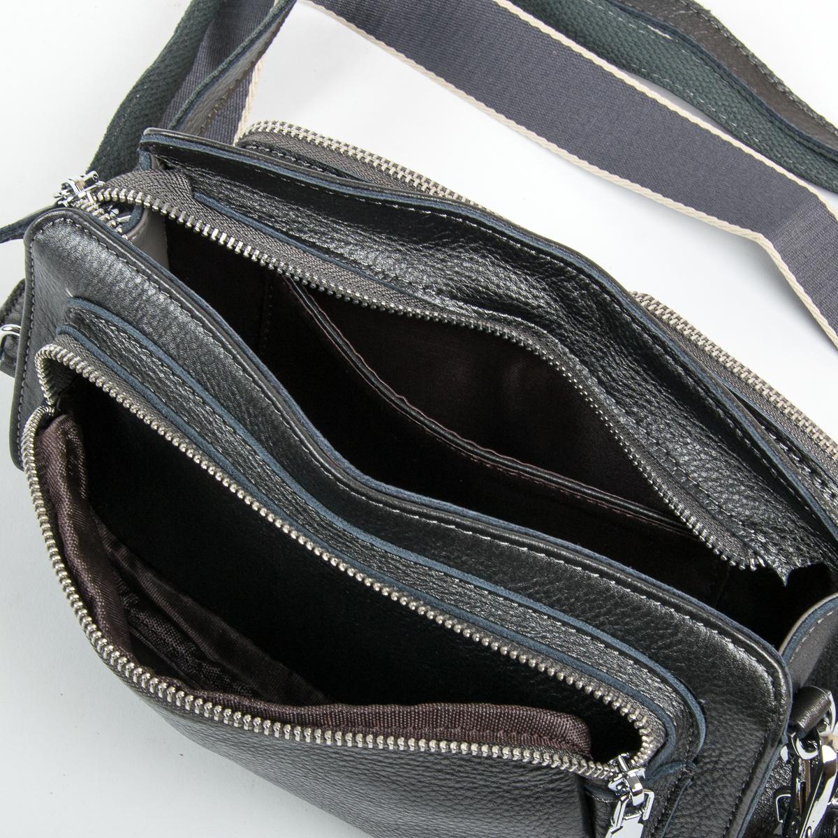 Сумка Женская Клатч кожа ALEX RAI 9-01 8785-9 silver-grey - фото 5