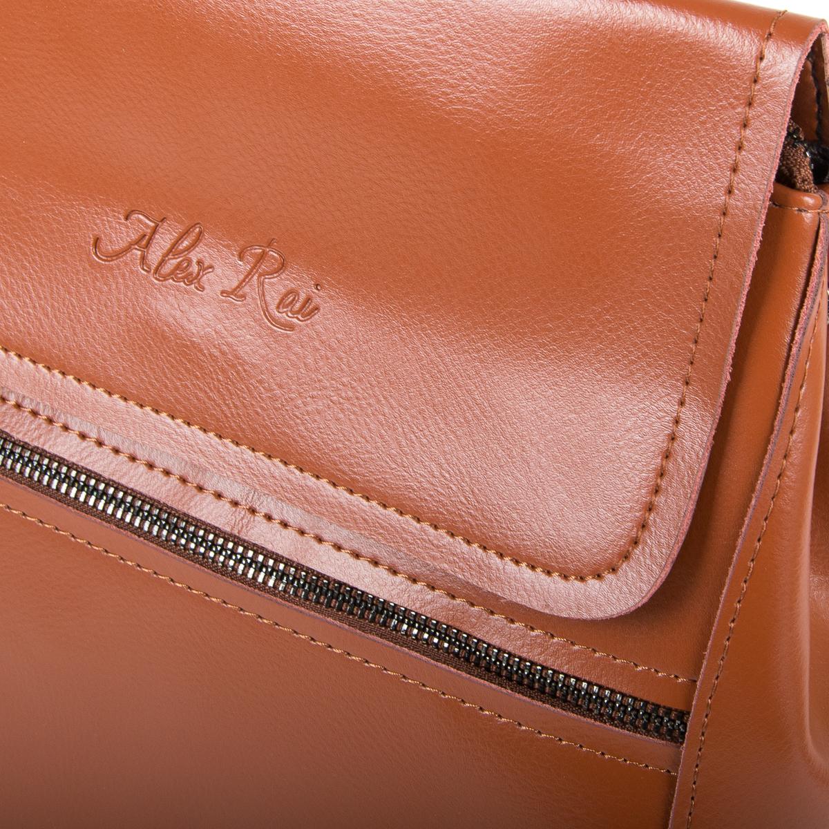 Сумка Женская Рюкзак кожа ALEX RAI 9-01 1005 khaki - фото 3