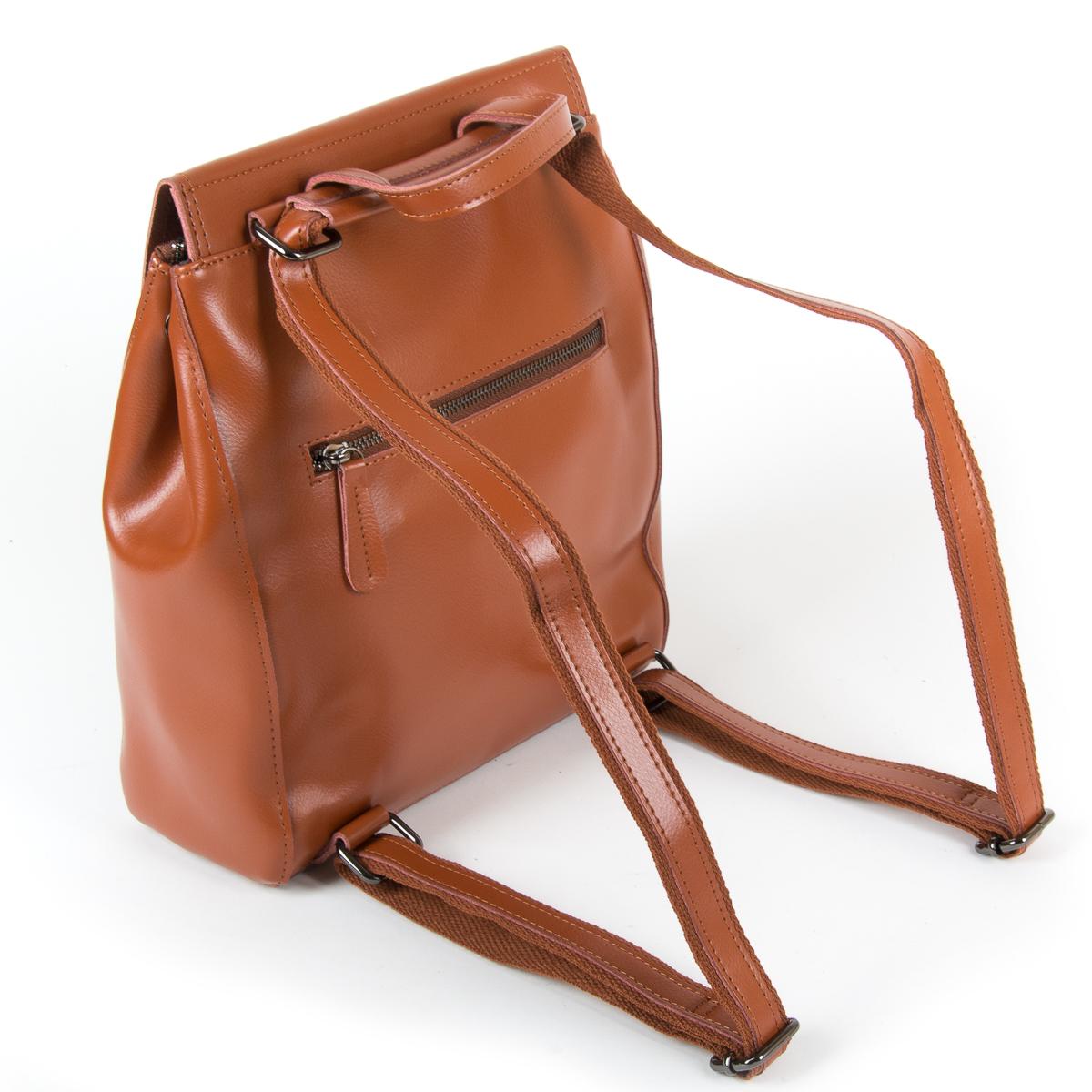 Сумка Женская Рюкзак кожа ALEX RAI 9-01 1005 khaki - фото 4