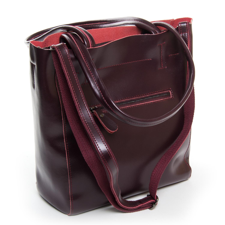 Сумка Женская Классическая кожа ALEX RAI 9-01 J003 wine-red - фото 4