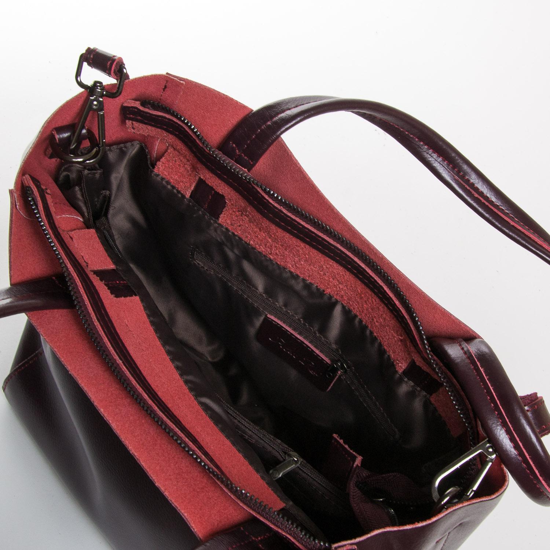 Сумка Женская Классическая кожа ALEX RAI 9-01 J003 wine-red - фото 5