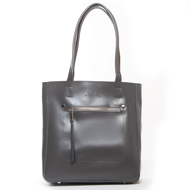 Сумка Женская Классическая кожа ALEX RAI 9-01 8773 grey