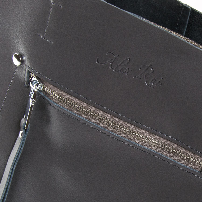 Сумка Женская Классическая кожа ALEX RAI 9-01 8773 grey - фото 3