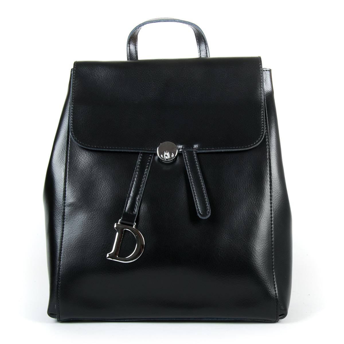 Сумка Женская Рюкзак кожа ALEX RAI 9-01 360 black