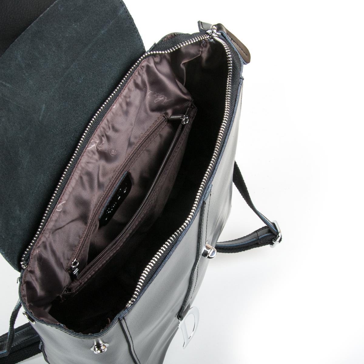Сумка Женская Рюкзак кожа ALEX RAI 9-01 360 black - фото 5