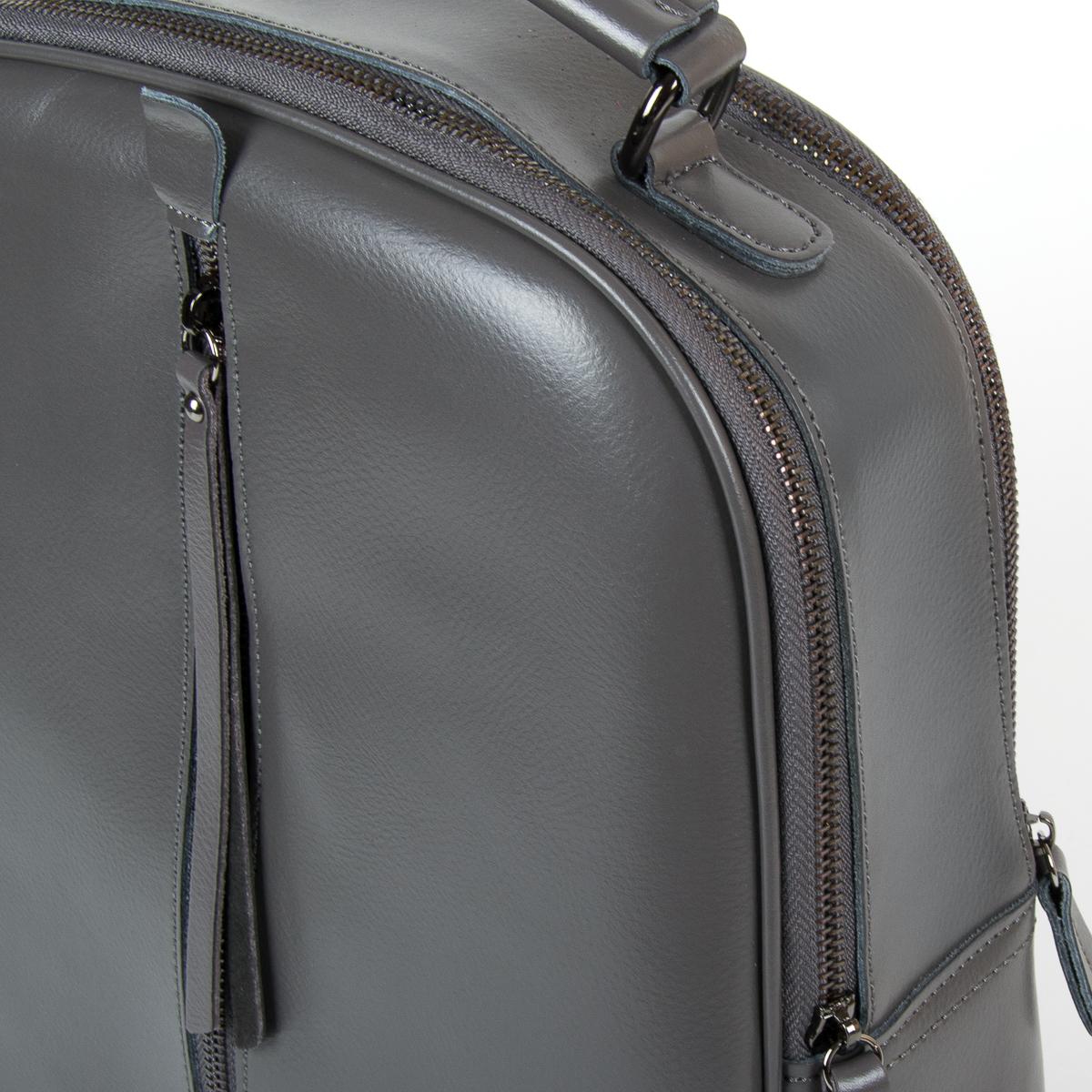 Сумка Женская Рюкзак кожа ALEX RAI 9-01 8694-3 grey - фото 3