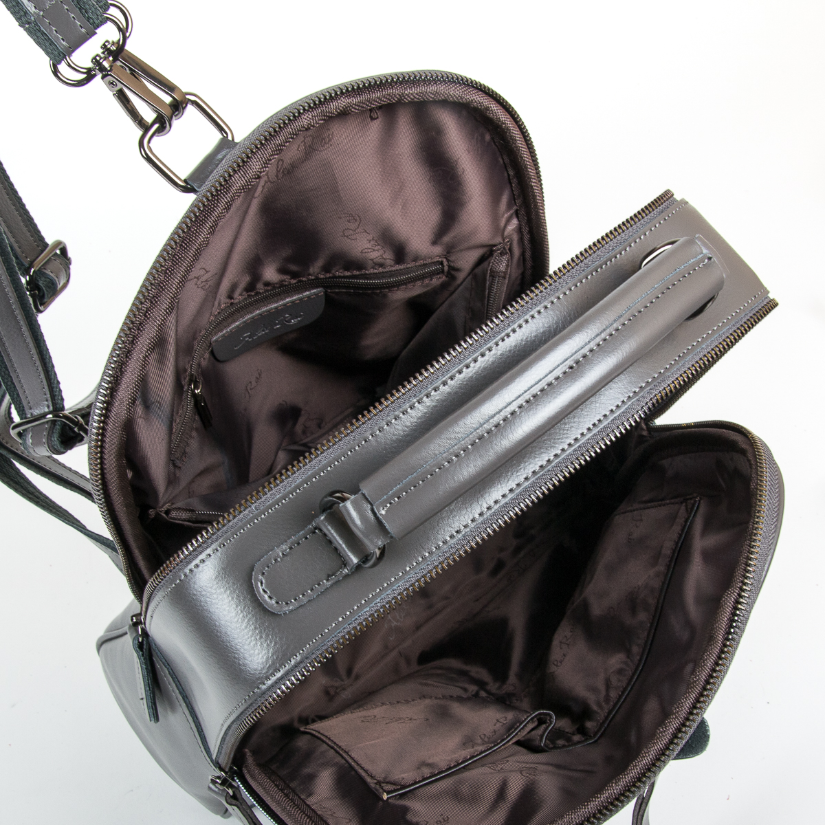 Сумка Женская Рюкзак кожа ALEX RAI 9-01 8694-3 grey - фото 5