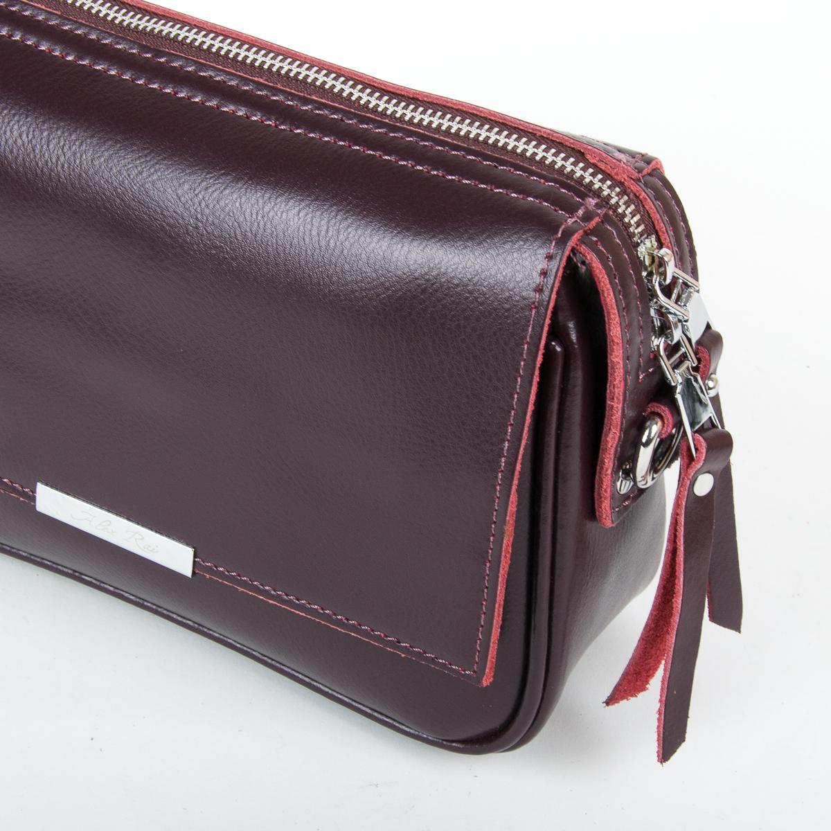 Сумка Женская Клатч кожа ALEX RAI 9-01 2227 burgundy - фото 3