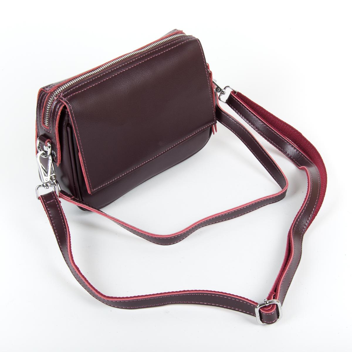 Сумка Женская Клатч кожа ALEX RAI 9-01 2227 burgundy - фото 4