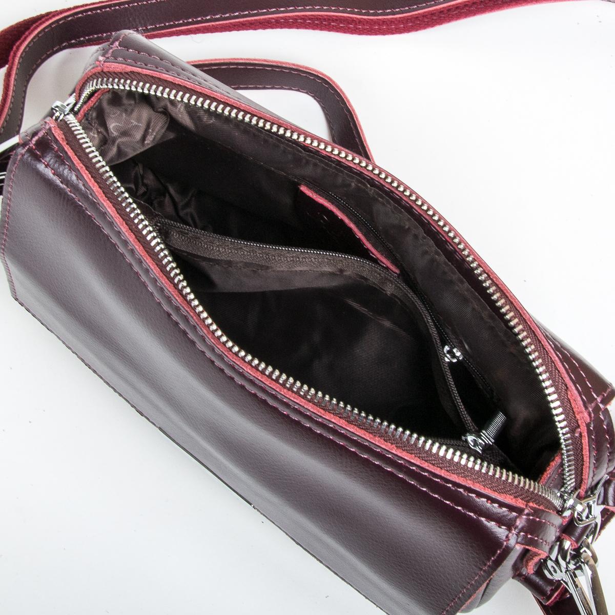 Сумка Женская Клатч кожа ALEX RAI 9-01 2227 burgundy - фото 5