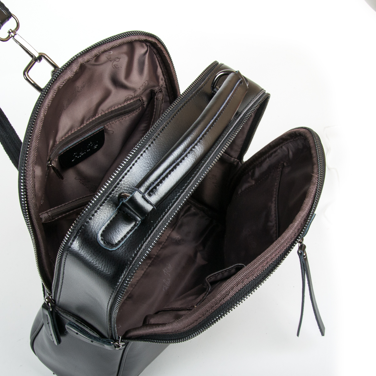 Сумка Женская Рюкзак кожа ALEX RAI 9-01 8694-3 black - фото 5