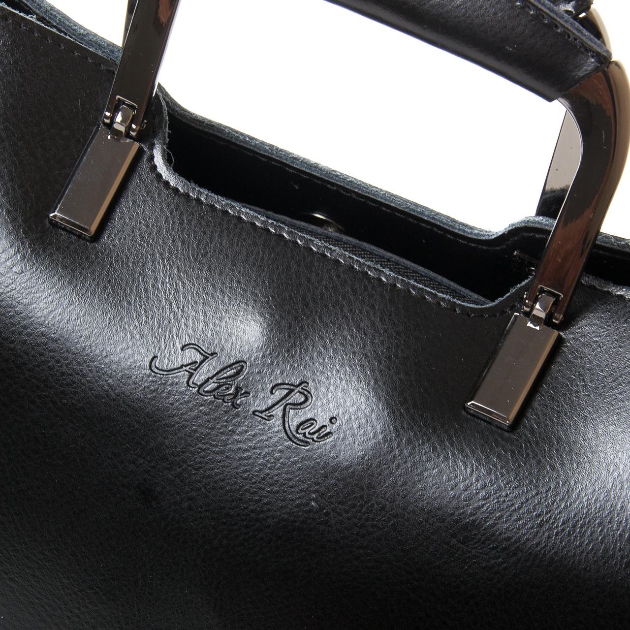 Сумка Женская Классическая кожа ALEX RAI 9-02 1540 black - фото 3
