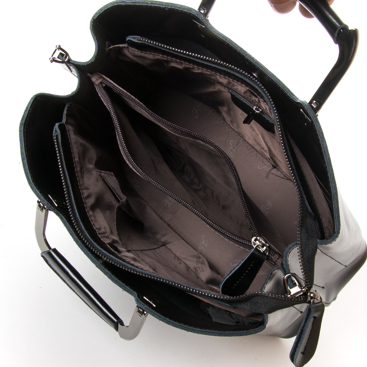 Сумка Женская Классическая кожа ALEX RAI 9-02 1540 black - фото 5