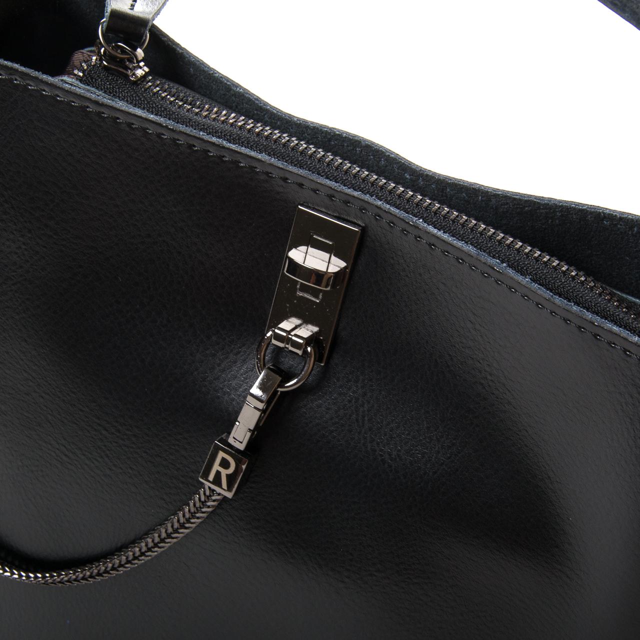 Сумка Женская Классическая кожа ALEX RAI 9-02 8703 black - фото 3