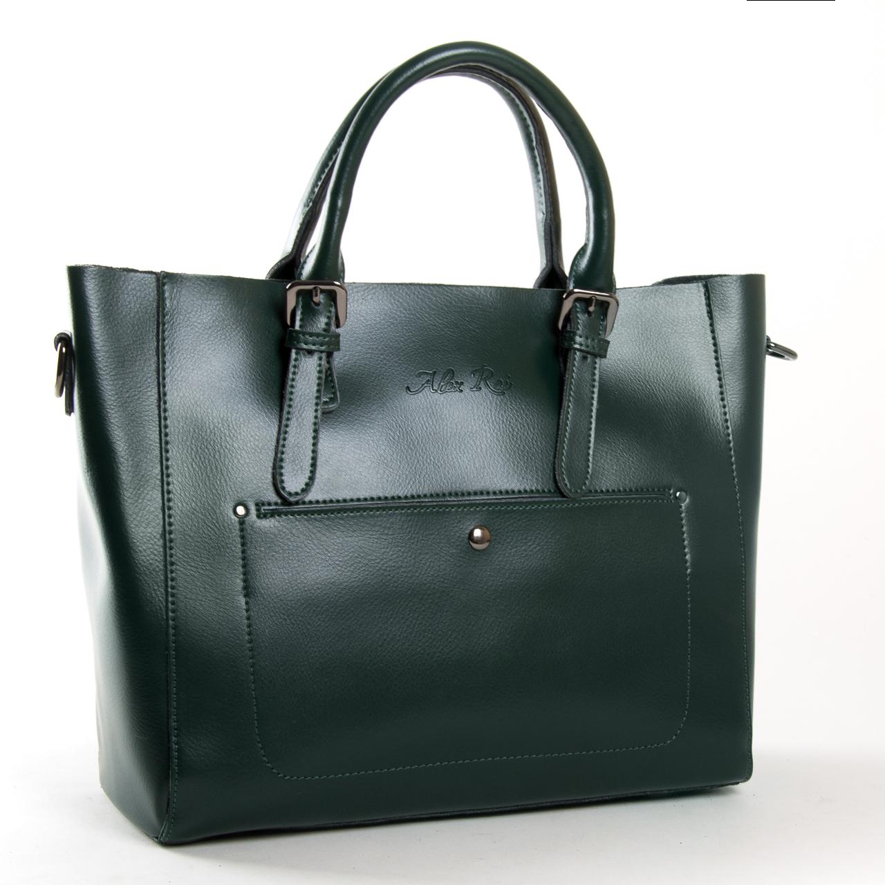 Сумка Женская Классическая кожа ALEX RAI 9-02 8223 dark-green