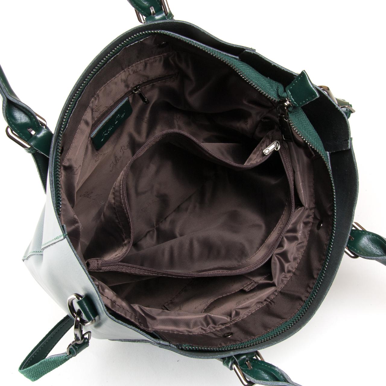 Сумка Женская Классическая кожа ALEX RAI 9-02 8223 dark-green - фото 5