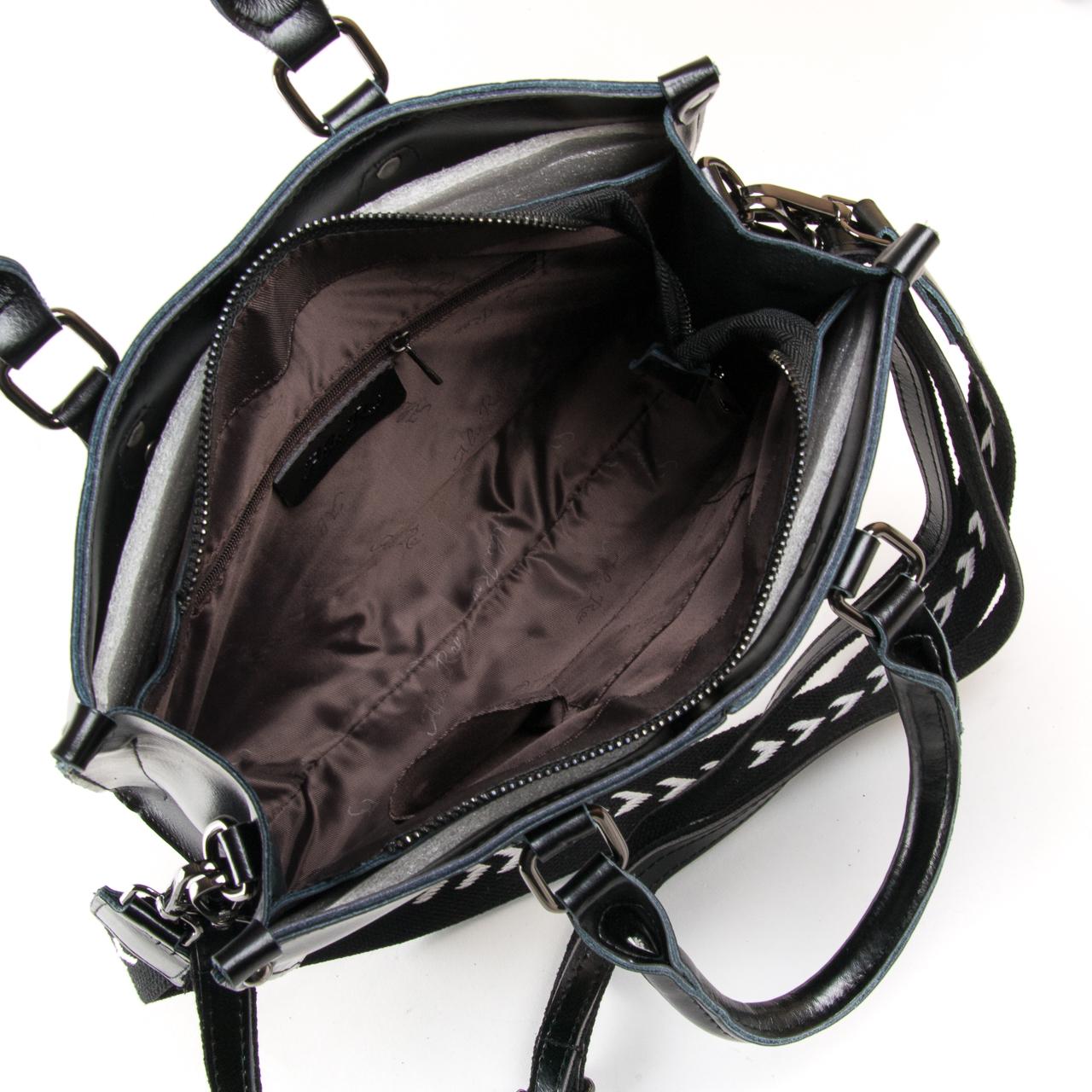 Сумка Женская Классическая кожа ALEX RAI 9-02 8802* black - фото 5
