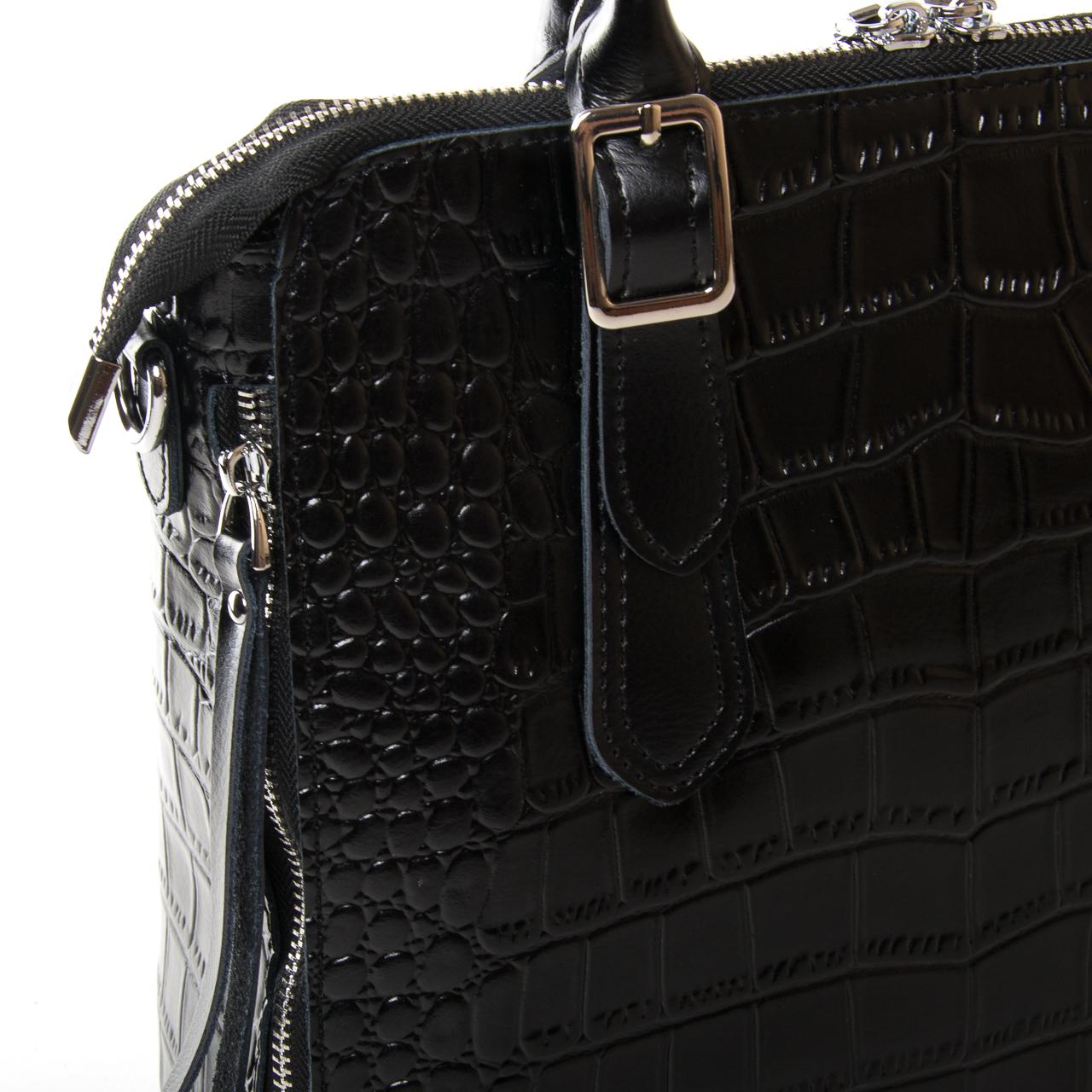 Сумка Женская Классическая кожа ALEX RAI 9-02 1543 black - фото 3