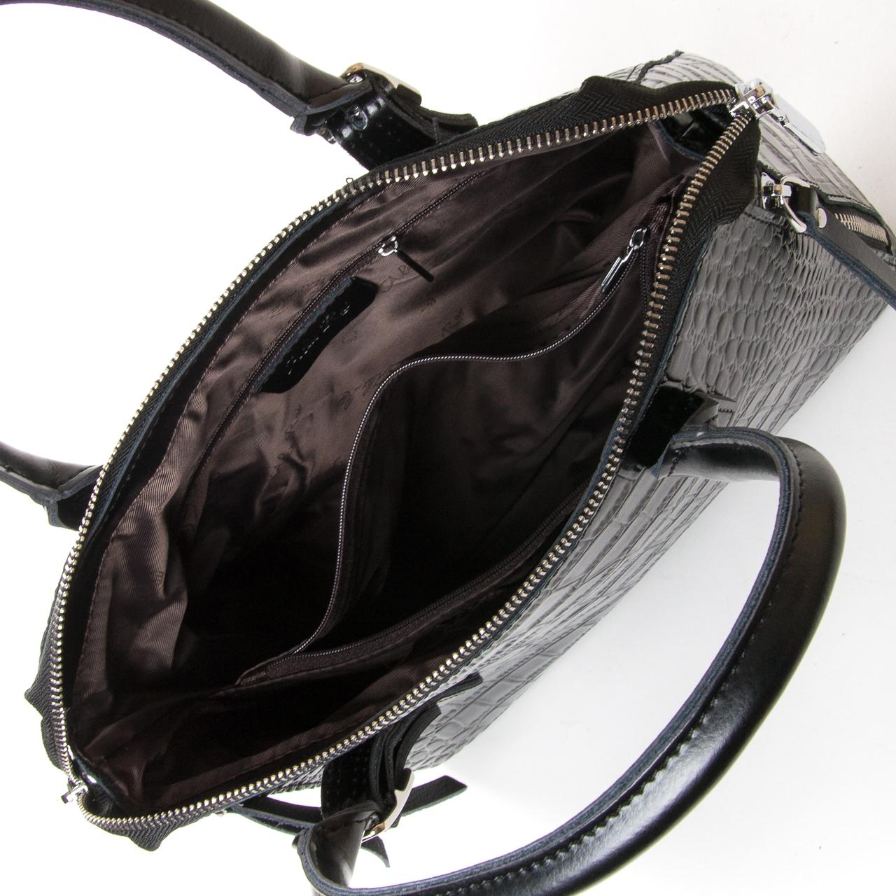 Сумка Женская Классическая кожа ALEX RAI 9-02 1543 black - фото 5
