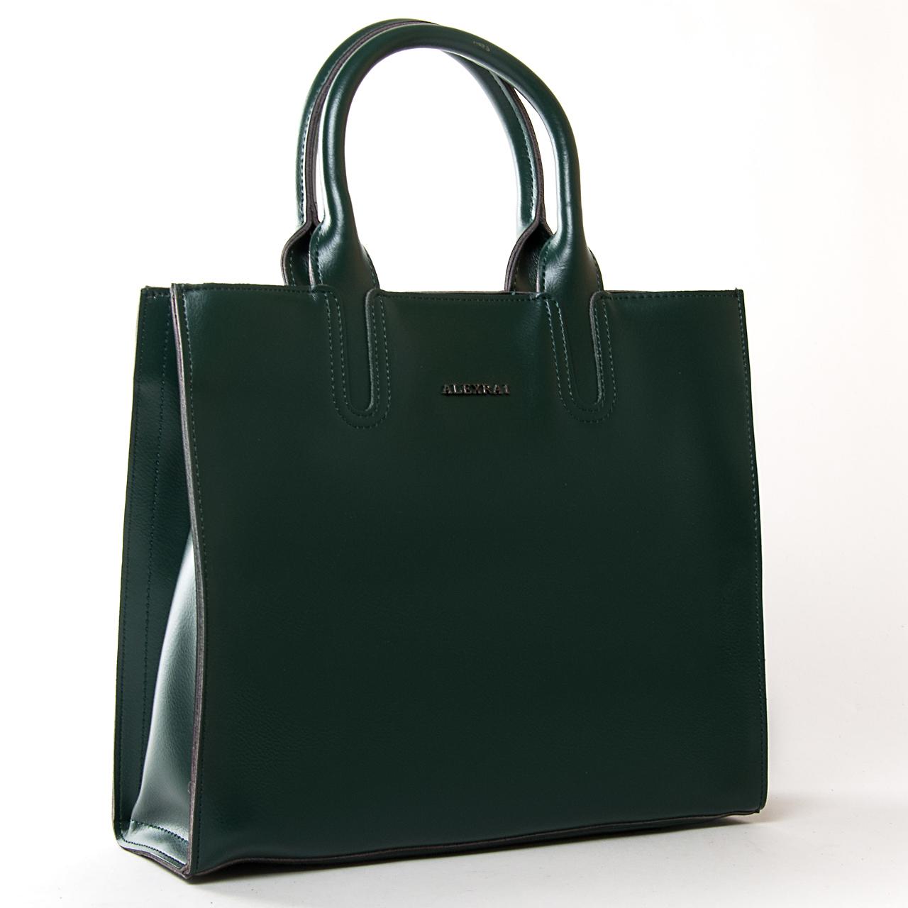 Сумка Женская Классическая кожа ALEX RAI 9-02 8633 green