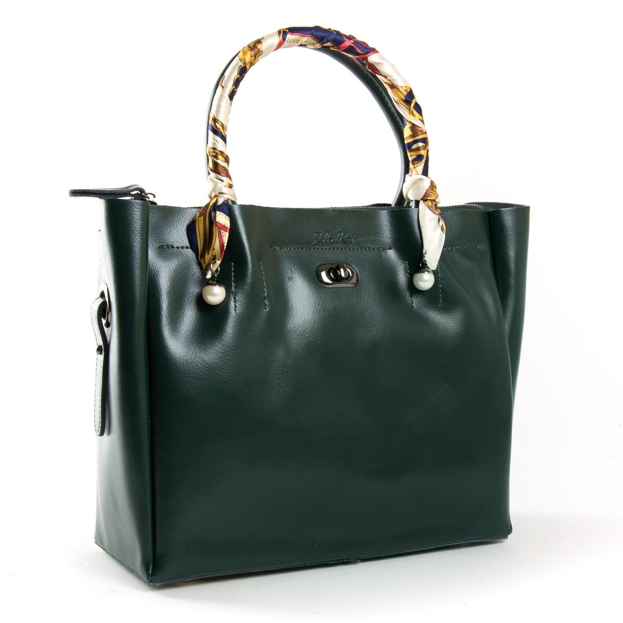 Сумка Женская Классическая кожа ALEX RAI 9-02 8696-3 green