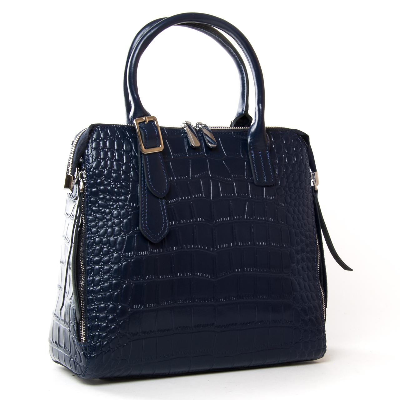 Сумка Женская Классическая кожа ALEX RAI 9-02 1543 blue