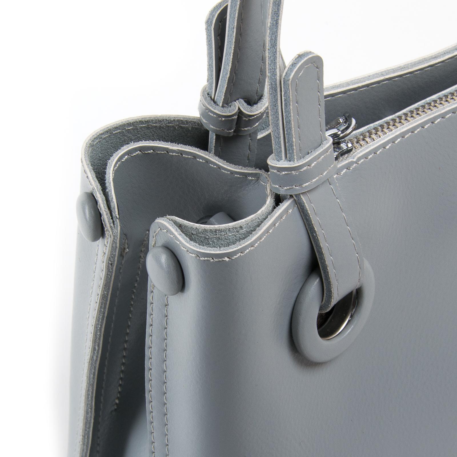 Сумка Женская Классическая кожа ALEX RAI 03-01 1546 light-grey - фото 3