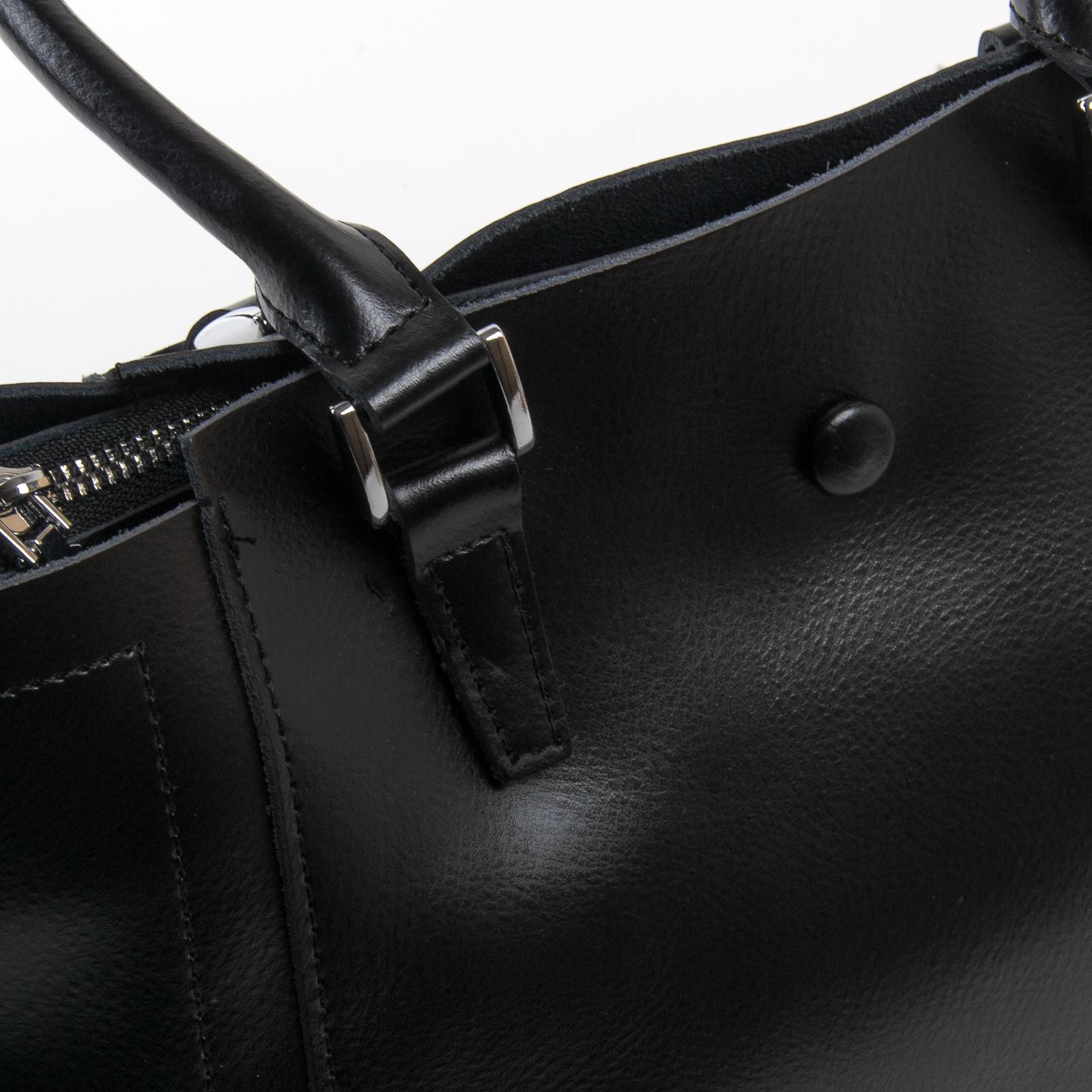 Сумка Женская Классическая кожа ALEX RAI 03-01 2107 black - фото 3